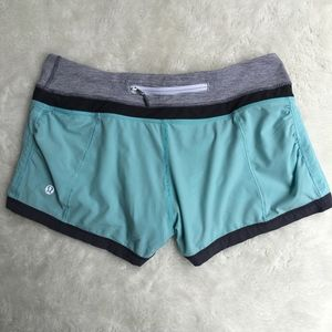 Lululemon Blue Black Shorts Size 4